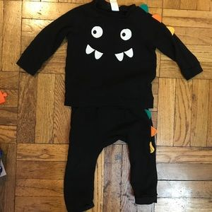 H&M fun two piece monster outfit